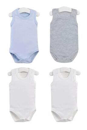 Pattaya Kids Erkek Bebek Beyaz Çıtçıtlı Kolsuz Body Ptk20s-406