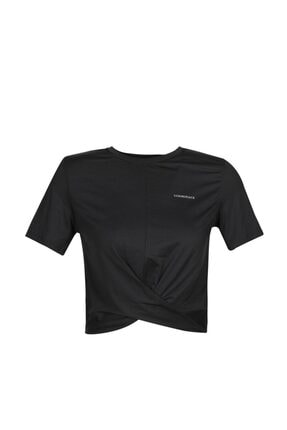 lumberjack CT319 IONA GATHERED T-SHI Siyah Kadın T-Shirt 100582662