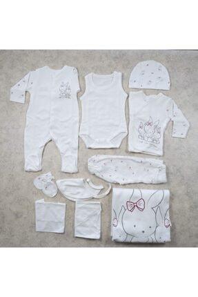 Bebetto Kız Bebek Fiyonklu Tavşan Ailesi Hastane Çıkışı 10'lu Set
