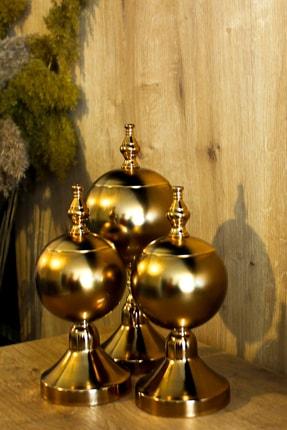 Metal Bending Art 3'lü Top Küre Dekoratif Obje Ev Ofis Dekorasyon