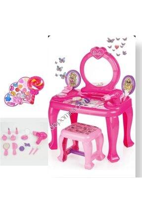 Depomiks Avm Oyuncak Aksesuarlı Barbie Makyaj Masası + Lolipop Makyaj Seti Sürülebilir Kız Oyuncakları