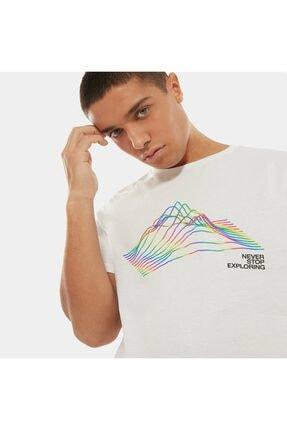 THE NORTH FACE Erkek Beyaz Rainbow T-shirt