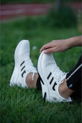 Wadork Erkek Beyaz Siyah Ortopedik Sneaker