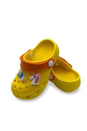 Akınal Bella Kız Çocuk Sarı Unicorn Tasarımlı Sandalet Terlik