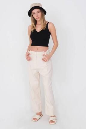 Addax Kadın Taş Düğme Detaylı Pantolon