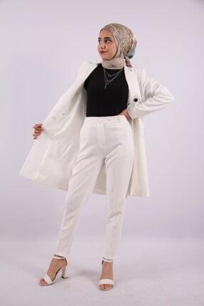 MİSS M.A.T FASHİON Kadın Beyaz Takım Elbise
