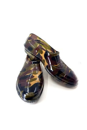 Ballıcapetek Erkek Siyah Renkli Kamuflaj Lastik Ayakkabı
