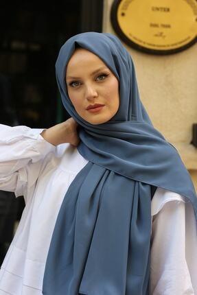 NEWSTORE Kadın Mavi Medine Ipeği Şal