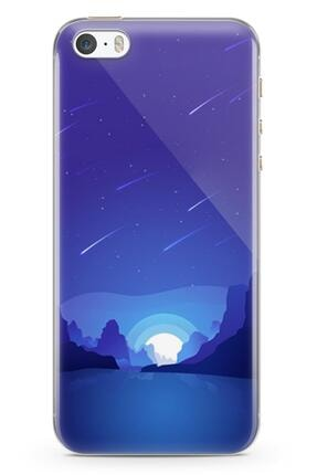 Melefoni Iphone 5s Ile Uyumlu Wilderness Serisi Uv Baskılı Silikon Kılıf