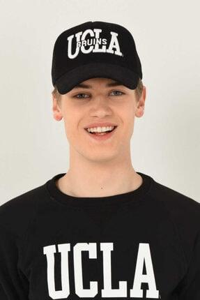 UCLA Mccloud Siyah Fileli Baseball Cap Nakışlı Şapka