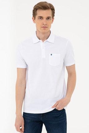 Pierre Cardin Beyaz Regular Fit Basic Polo Yaka T-Shirt