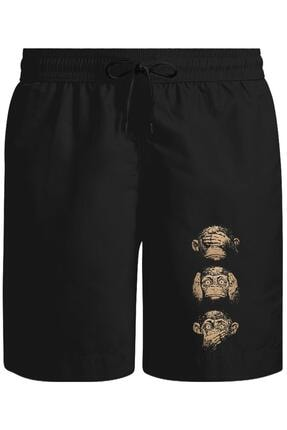 Lord T-Shirt Three Monkeys Unisex Siyah Şort