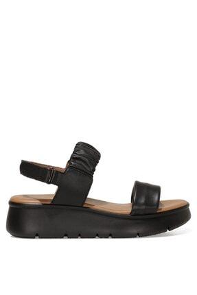 Nine West Kadın Siyah Deri Sandalet - 1fx