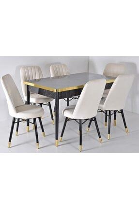 Kaktüs Avm Açılır Masa Sandalye Takımı Yemek Masası Salon Masası Masa Takımı Ahşap Masa 6 Kişilik