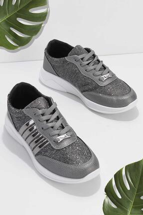 Bambi Kadın Kurşun Sneaker K01543300078