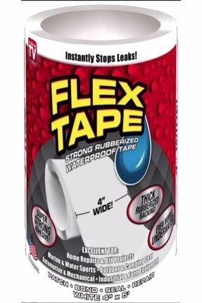 AKSCEP Güçlü Suya Dayanıklı Su Sızdırmaz Sıcak Soğuk Tamir Bandı Beyaz Flex Tape