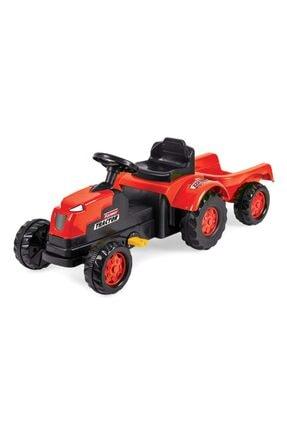 Ion Unisex Çocuk Kırmızı Römorklu Pedallı Traktör