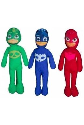 M-R Toys Shop Yeşil Pj Masks Figürlü Peluş Oyuncak 3 Adet