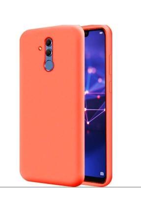 HappyCase Huawei Mate 20 Lite Içi Kadife Lansman Silikon Kılıf Turuncu