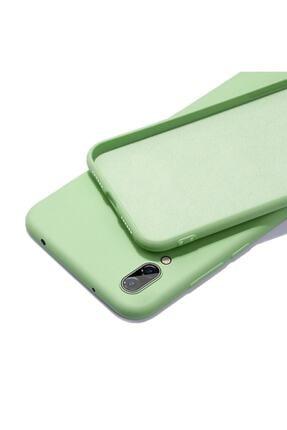 HappyCase Samsung A20 / A30 Içi Kadife Lansman Silikon Kılıf Fıstık Yeşil