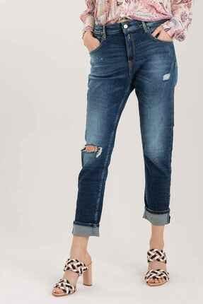 Replay Kadın Mavi Marty Slim Boyfriend Jeans