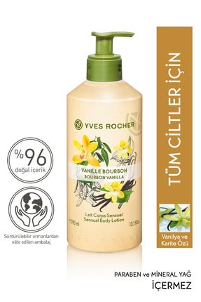 Yves Rocher Vücut Sütü - Organik Vanilya - 390 ml