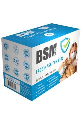 BSM 3 Katlı Yassı Lastikli Full Ultrasonik Meltblown Cerrahi Çocuk Maskesi Toplam 50 Adet