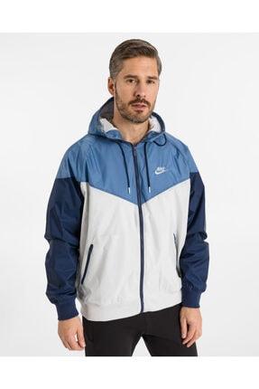 Nike Unisex Mavi Beyaz Yağmurluk