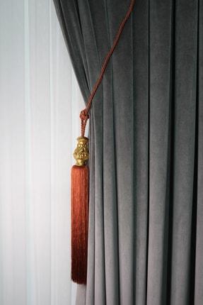 ŞİRİNLER Luxury Tavan Braçol (tarçın) Yaprak Altın - Lüks Fon Perde Korniş Bağlama Aksesuarı