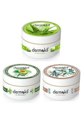Dermokil El Ve Yüz Kremi Aloevera-avokado-zeytinyağı 300ml 3lü Set