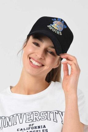 UCLA Anselmo Siyah Baseball Cap Nakışlı Şapka
