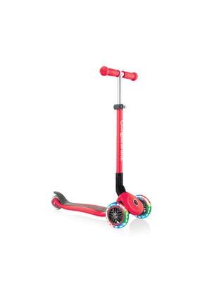 Globber Primo Katlanabilir Işıklı Kırmızı Çocuk Scooter