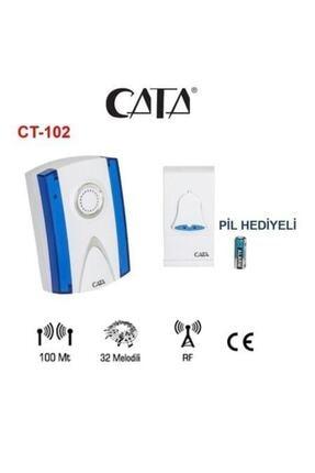 Cata Ct-102 Kablosuz Kapı Zili Uzaktan Kumandalı Zil Hasta Çağrı Butonu Olarak Kullanılabilir
