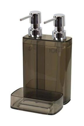 Prima Nova Vıva M-e10-25 Sıvı Sabunluk 2lı Sungerlıklı Seffaf Sıyah
