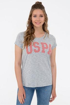 U.S. Polo Assn. Grı Kadın T-Shirt