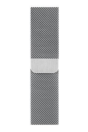 MAXCOM Apple Watch Hasır 38mm/40mm Milano Kordon Çelik Kayış Sılver/gumus