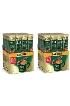 Jacobs 3ü1 Arada Gold Yoğun Lezzet Granül Kahve 40lı x2 80 Adet