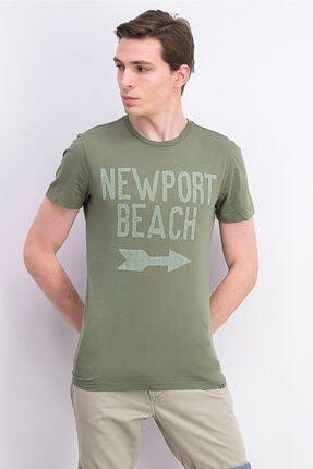 Champion Graphic Olive Newport Beach T-Shirt
