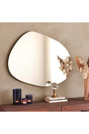 bluecape California  Asymmetric Mirror Konsol Dresuar Antre Salon Dekor Ayna 75*55