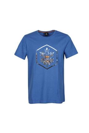 lumberjack CT636 COLORED LOGO T-SHIR Saks Erkek T-Shirt 101028325