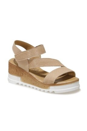 ART BELLA CS21027 1FX Bej Kadın Dolgu Topuklu Sandalet 101029519