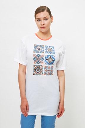 Trendyol Modest Hardal Örme Tunik T-shirt TCTSS21TN0203