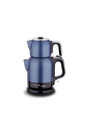 KORKMAZ A331-07 Çaytema Elekt.çaydanlık Mavi/krom