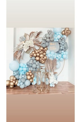 canbayhobi Pastel Balon Krom Gold Balon Konsept Balon Zinciri