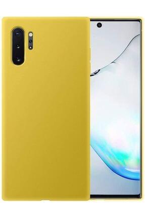 Bilişim Aksesuar Samsung Note 10 Plus Uyumlu Içi Kadife Lansman Silikon Kılıf