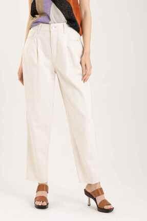 Liu Jo Kadın Ekru Yüksek Bel Jeans