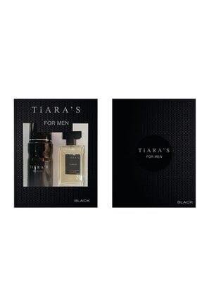 Tiaras Black Edt 50 ml Parfüm + 150 ml Deodorant Him Parfüm Seti