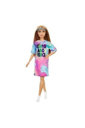 Barbie Büyüleyici Parti Bebekleri Fashionistas  Renkli Elbiseli GRB51