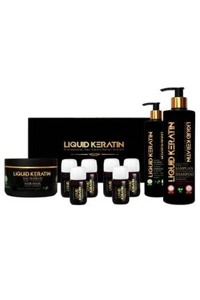 Liquid Keratin Saç Botoksu Yıpranmış Saçlara Keratin Yükleme Seti (6x20ml Serumlu)