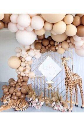 canbayhobi Kahverengi Tonları Balon Zinciri - 130 Adet Balon , 5 Mt Zincir Aparatı Ve Balon Pompası